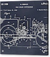 1946 Road Roller Blackboar Patent Print Acrylic Print