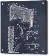 1947 Hockey Goal Patent Print Blackboard Acrylic Print