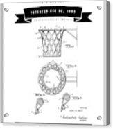 1951 Basketball Goal - Black Retro Style Acrylic Print