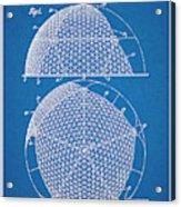 1954 Geodesic Dome Blueprint Patent Print Acrylic Print