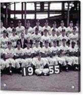 1955 Brooklyn Dodgers Acrylic Print