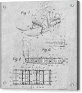1960 Bombardier Snowmobile Gray Patent Print Acrylic Print