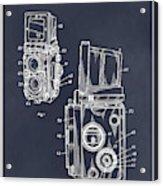 1960 Rolleiflex Photographic Camera Blackboard Patent Print Acrylic Print
