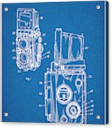 1960 Rolleiflex Photographic Camera Blueprint Patent Print Acrylic Print