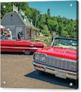 1964 And 1963 Chevrolet Impala Convertibles Acrylic Print