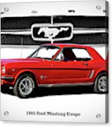 1965 Mustang 289 Coupe Acrylic Print