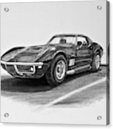 1969 Chevrolet Corvette Stingray Graphite Acrylic Print