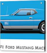 1971 Ford Mustang Mach 1 - Grabber Blue Ver.2 Acrylic Print