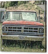 1971 Ford Pickup Truck For Sale In Utah Acrylic Print