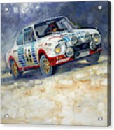 1977 Rallye Monte Carlo Skoda 130 Rs Blahna Hlavka Winner Acrylic Print