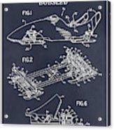 1982 Bobsled Blackboard Patent Print Acrylic Print