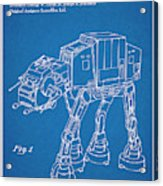 1982 Star Wars At-at Imperial Walker Blueprint Patent Print Acrylic Print