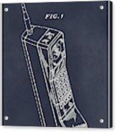 1988 Motorola Cell Phone Blackboard Patent Print Acrylic Print
