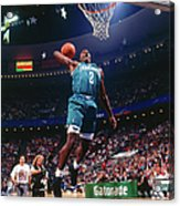 1992 Slam Dunk Contest Larry Johnson Acrylic Print