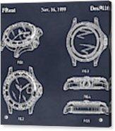 1999 Rolex Diving Watch Patent Print Blackboard Acrylic Print