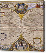 Antique Map Of The World Acrylic Print
