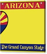 Arizona State License Plate Acrylic Print