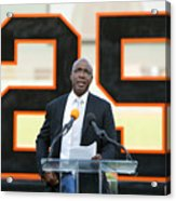 Barry Bonds San Francisco Giants Number Acrylic Print