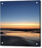 Beach Sunset, Blackpool, Uk 09/2017 Acrylic Print