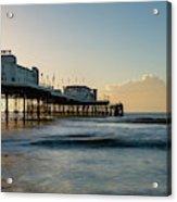 Beautiful Vibrant Sunrise Landscape Image Of Worthing Pier In We Acrylic Print