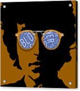 Bob Dylan Blowin In The Wind Acrylic Print