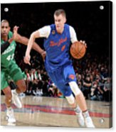 Boston Celtics V New York Knicks Acrylic Print