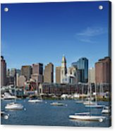 Boston Skyline North End And Financial District Acrylic Print