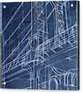 Bridge Blueprint I Acrylic Print