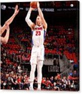 Brooklyn Nets V Detroit Pistons Acrylic Print
