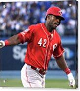 Cincinnati Reds V Los Angeles Dodgers 2 Acrylic Print