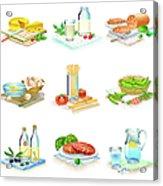 Close-up Of Food Stuff Acrylic Print