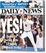 Daily News Front Page Derek Jeter Acrylic Print