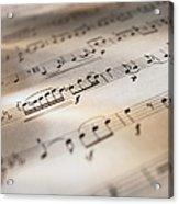 Detail Of Sheet Music Acrylic Print