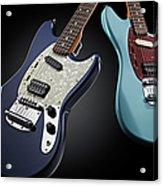 Fender Kurt Cobain Mustang Electric Acrylic Print