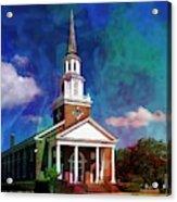 First Baptist Church Myrtle Beach S C Acrylic Print