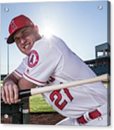 Los Angeles Angels Of Anaheim Photo Day 2 Acrylic Print