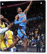 Los Angeles Lakers Vs Oklahoma City Acrylic Print
