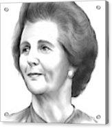 Margaret Thatcher Acrylic Print