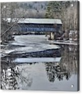 New England College Covered Bridge Acrylic Print