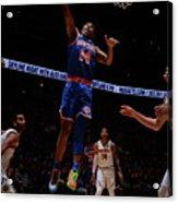 New York Knicks V Denver Nuggets Acrylic Print