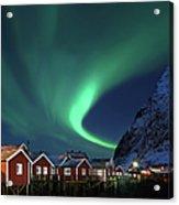 Northern Lights - Aurora Borealis Over Acrylic Print