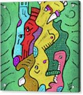 Psychedelic Animals Acrylic Print