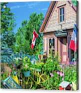 Scenic Garden And Antiques Store Acrylic Print