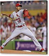 St Louis Cardinals V Miami Marlins Acrylic Print