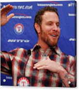Texas Rangers Introduce Josh Hamilton Acrylic Print