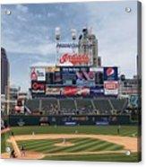 Texas Rangers V Cleveland Indians Acrylic Print