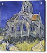 The Church In Auvers Sur Oise  View From The Chevet  Acrylic Print