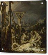The Lamentation Over The Dead Christ  Acrylic Print