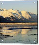 Turnagain Arm And Kenai Mountains Alaska Acrylic Print