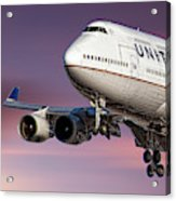United Airlines Boeing 747-422 Acrylic Print